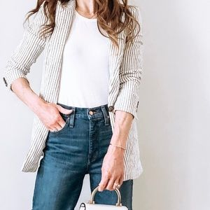 Striped oversized blazer from H&M